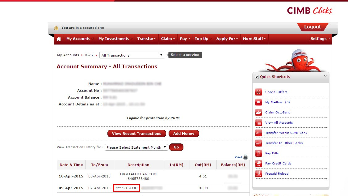 how to delete transaction history in paypay