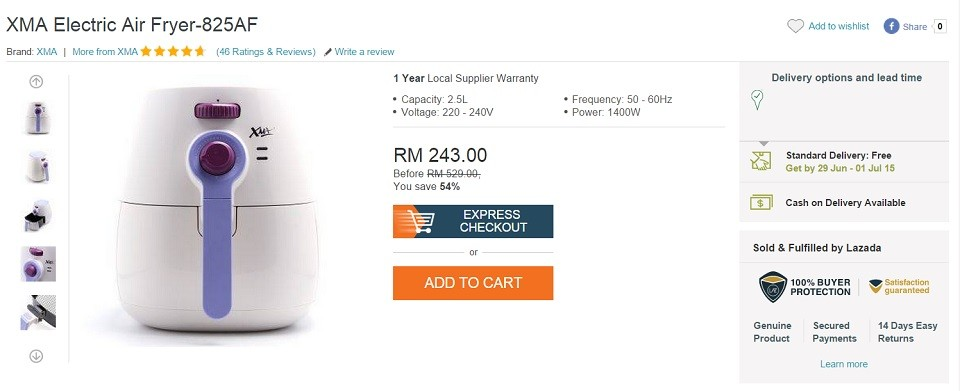 harga xma air fryer