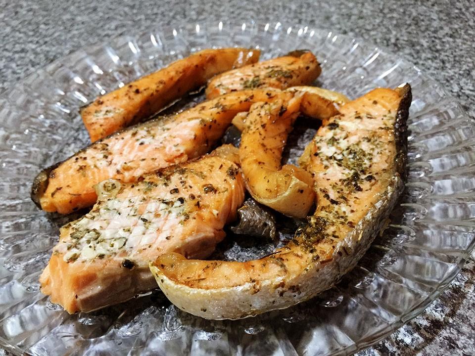 salmon bakar air fryer