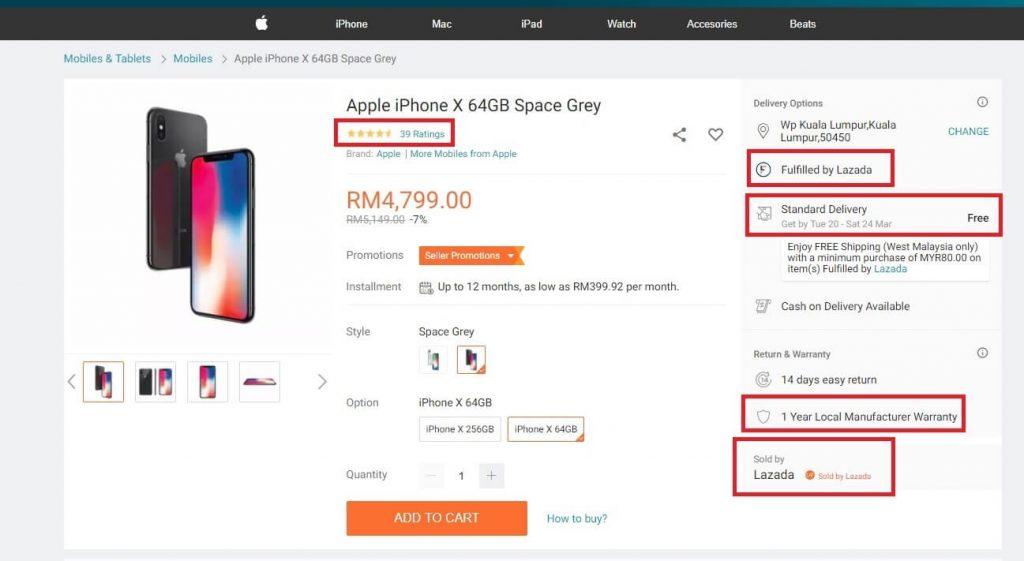 cara beli iphone di lazada malaysia