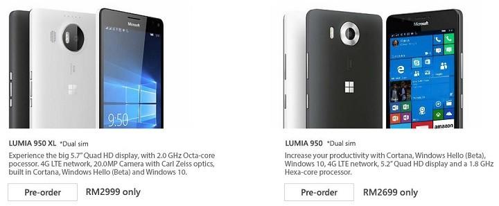 lazada lumia 950