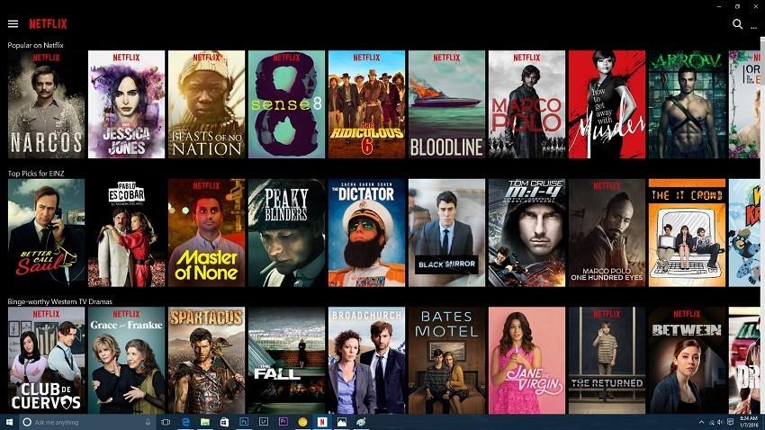 netflix windows 10 apps
