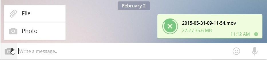 telegram desktop kongsi fail