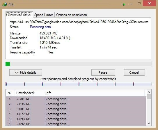 unifi 30mbps download speed idm