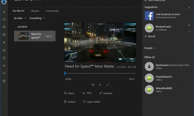 Rekod Video Gameplay Menggunakan Game DVR di Windows 10