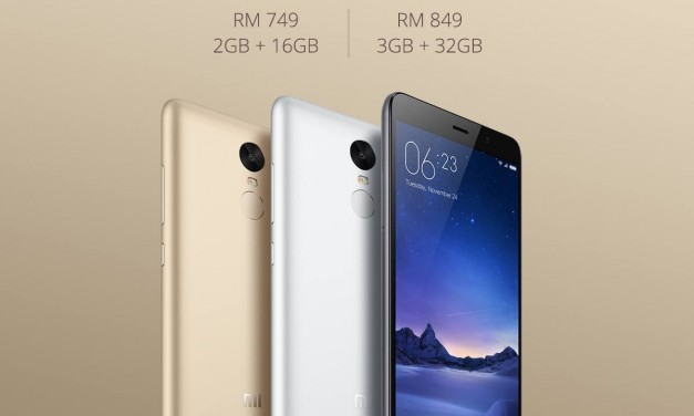 Harga Redmi Note 3 Diumumkan Secara Rasmi – RM749 (16GB) dan RM849 (32GB)