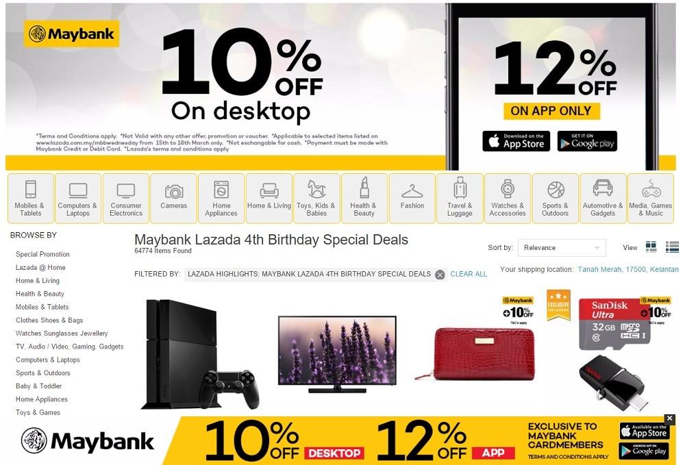 lazada maybank discount