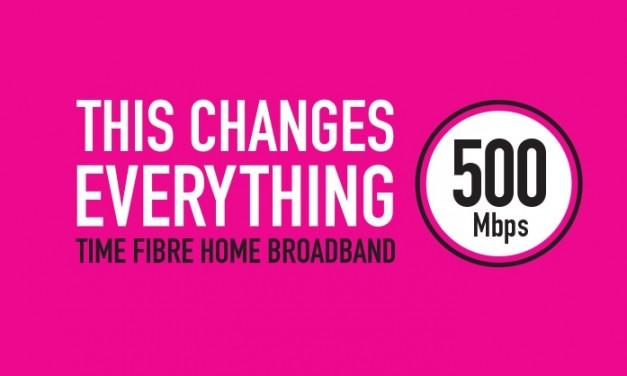 TIME Fibre Home Broadband Diperkenalkan – Kelajuan Hingga 500Mbps Untuk Pengguna Rumah