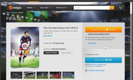 Fifa 16 Kini Boleh Dilanggan Menerusi Origin Access Pada Harga RM18.50 Sebulan