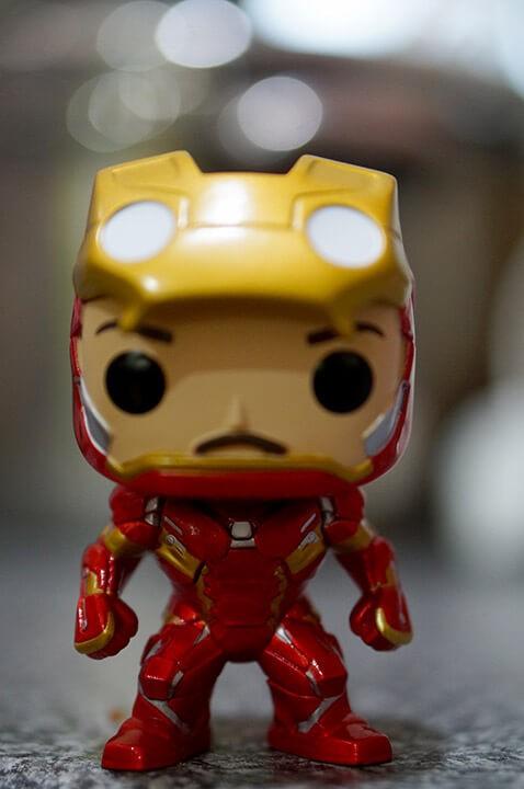 iron man unmasked funko pop civil war