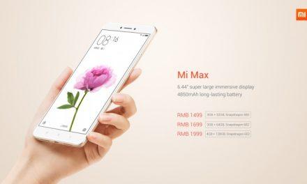 Mi Max – Smartphone Dengan Saiz Skrin 6.4 Inci Terbaru Daripada Xiaomi