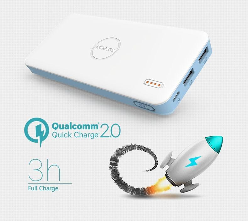 romos fast charging powerbank