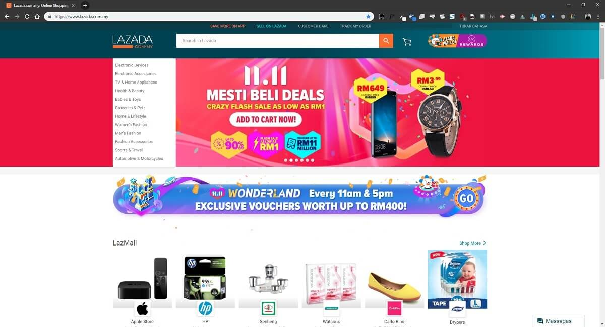 lazada malaysia installment plan credit card