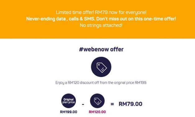 Webe RM79 Unlimited Data Plan Dibuka Kepada Semua Untuk Tempoh Terhad