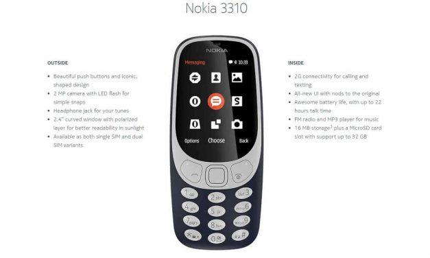 Nokia 3310 Edisi 2017 Diperkenalkan – Kemunculan Kembali 'Legendary Phone' Selepas Hampir 17 Tahun