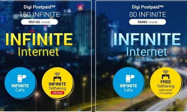 Digi Postpaid Infinite 80 & Infinite 150 Menawarkan Unlimited Data Usage Sepanjang Hari