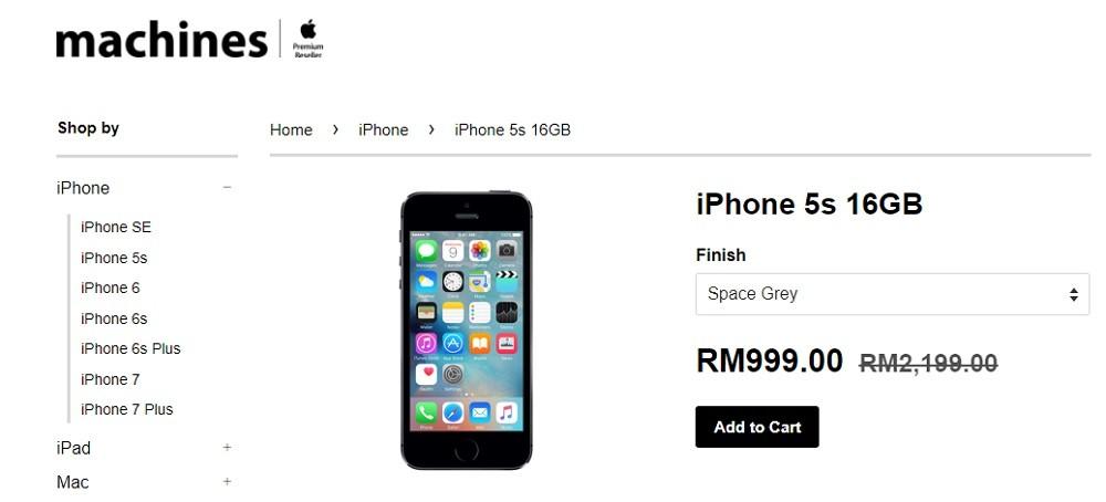 iphone 5s rm999 malaysia