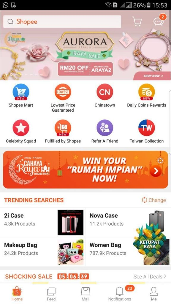 shopee app penghantaran percuma