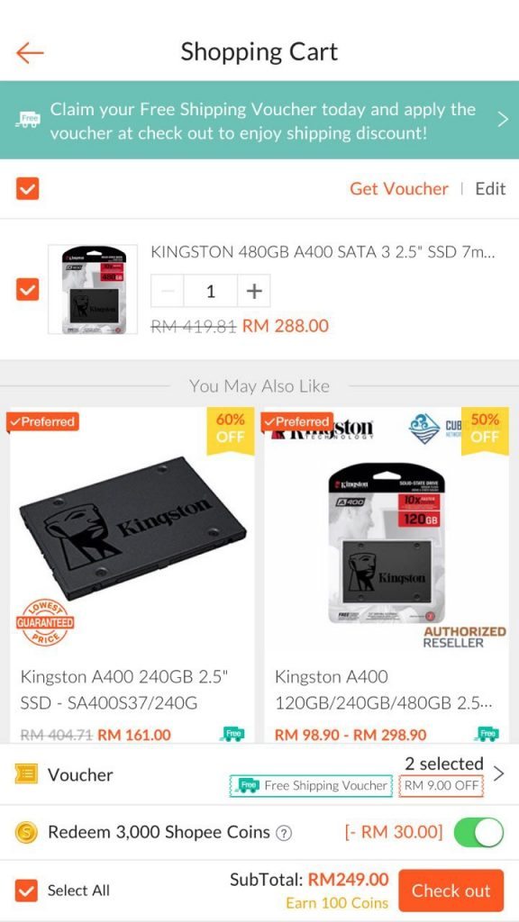 cara beli barang shopee malaysia penghantaran percuma