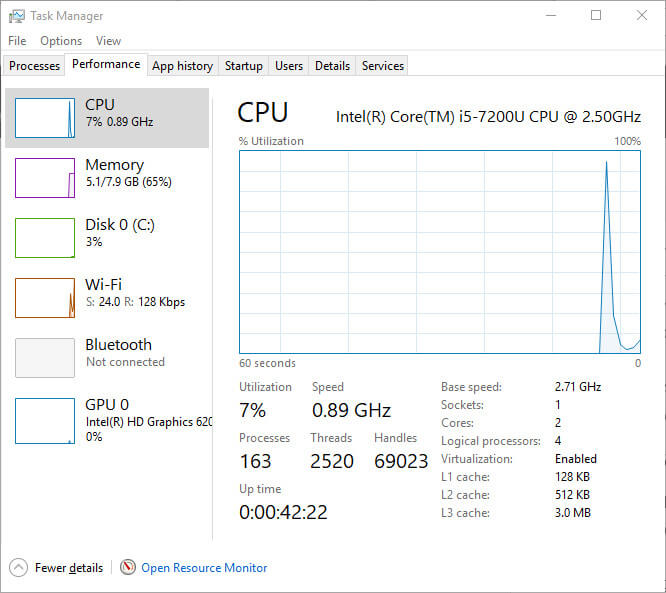 windows 10 fcu gpu task manager