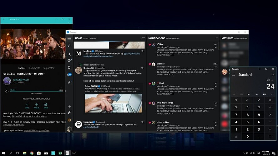 windows 10 dark mode theme
