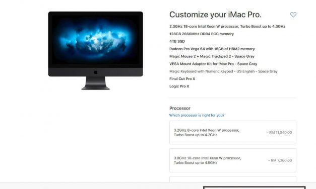 Apple iMac Pro Kini Di Malaysia – Harga Bermula RM20999 Sehingga RM61816.80 Untuk Full Spec