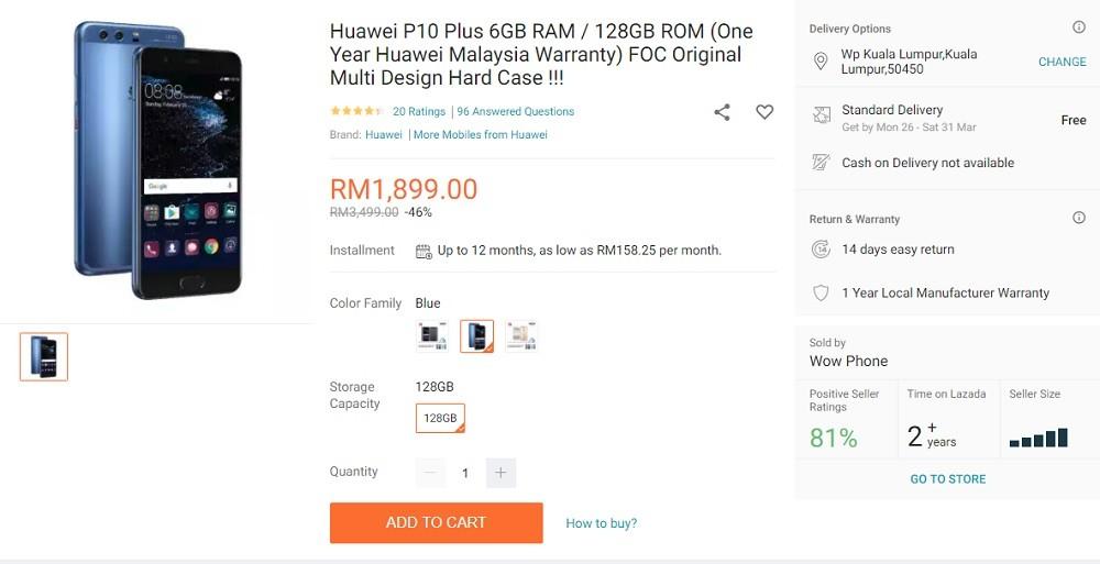 huawei p10 plus murah