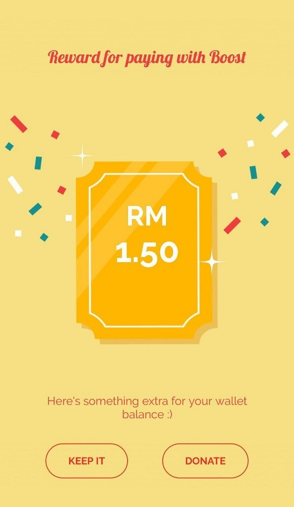 boost shake reward cashback