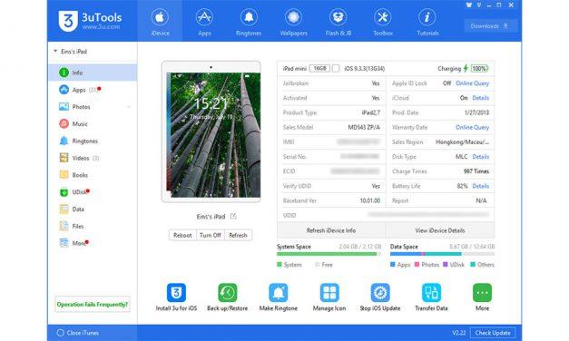 3utools, Software Mesti Ada Untuk Pengguna iOS – Transfer Music, Video, Ringtones, Install Apps, Jailbreak