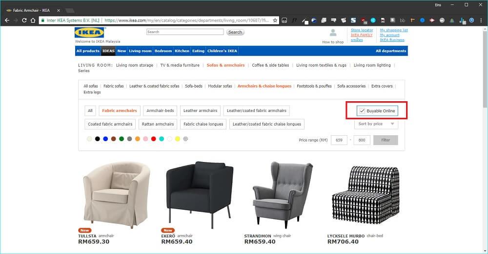 cara beli barang ikea malaysia online