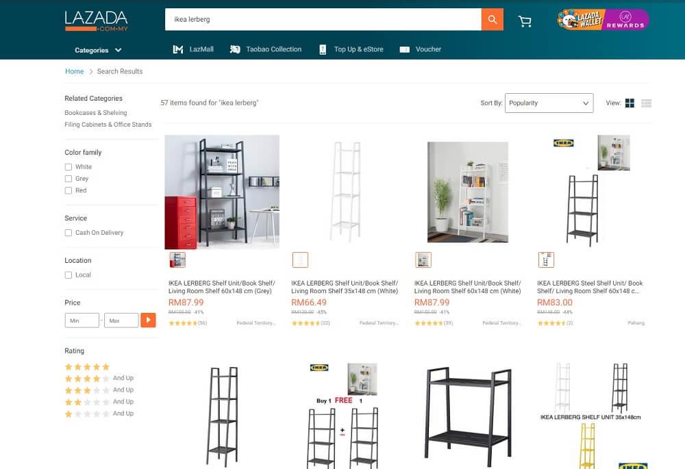 ikea malaysia lazada online store