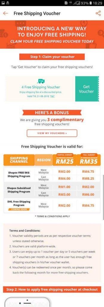 shopee free shipping voucher