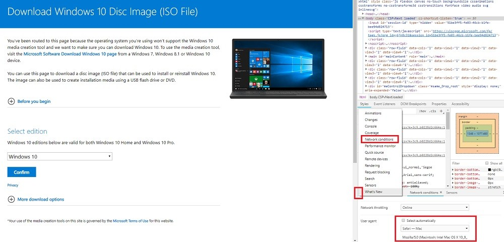direct download windows 10 iso