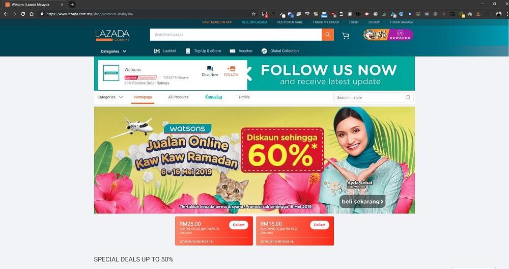 watsons lazada malaysia