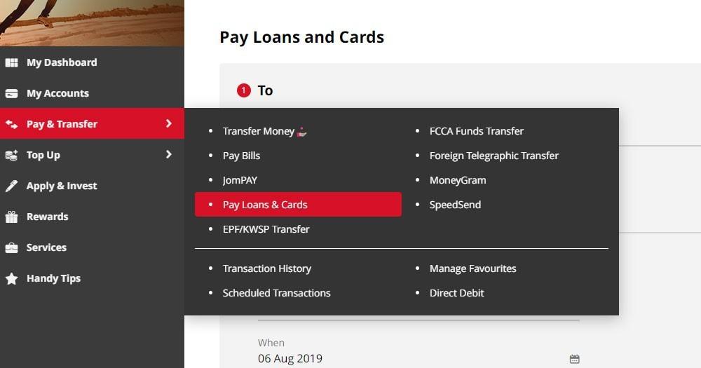 cara bayar loan kereta cimb clicks