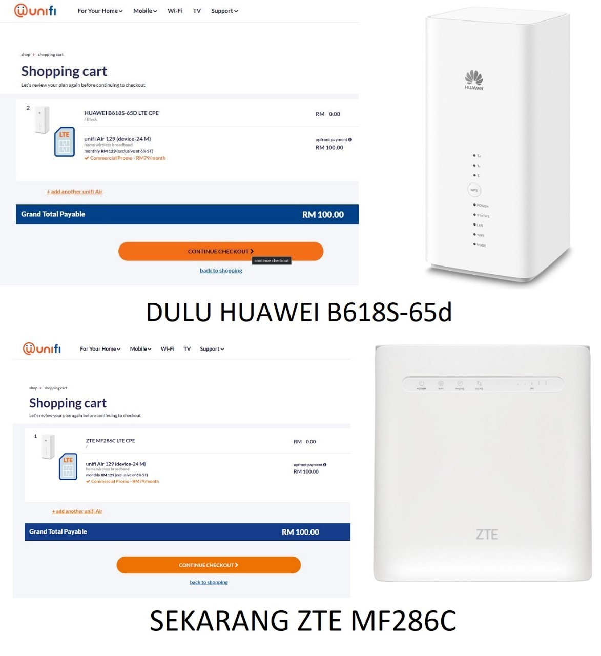 tm unifi air zte mf286c