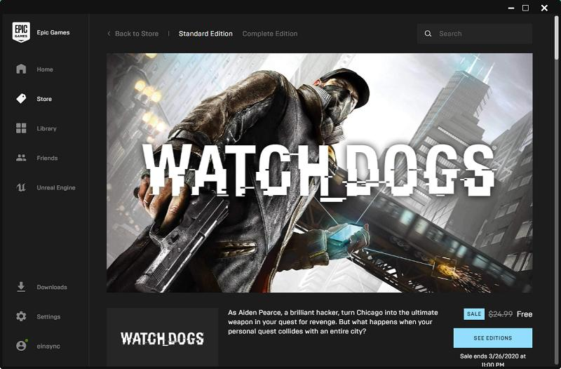 watch dogs free epic store covid19