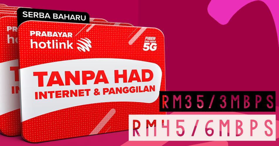 hotlink prepaid unlimited data rm35