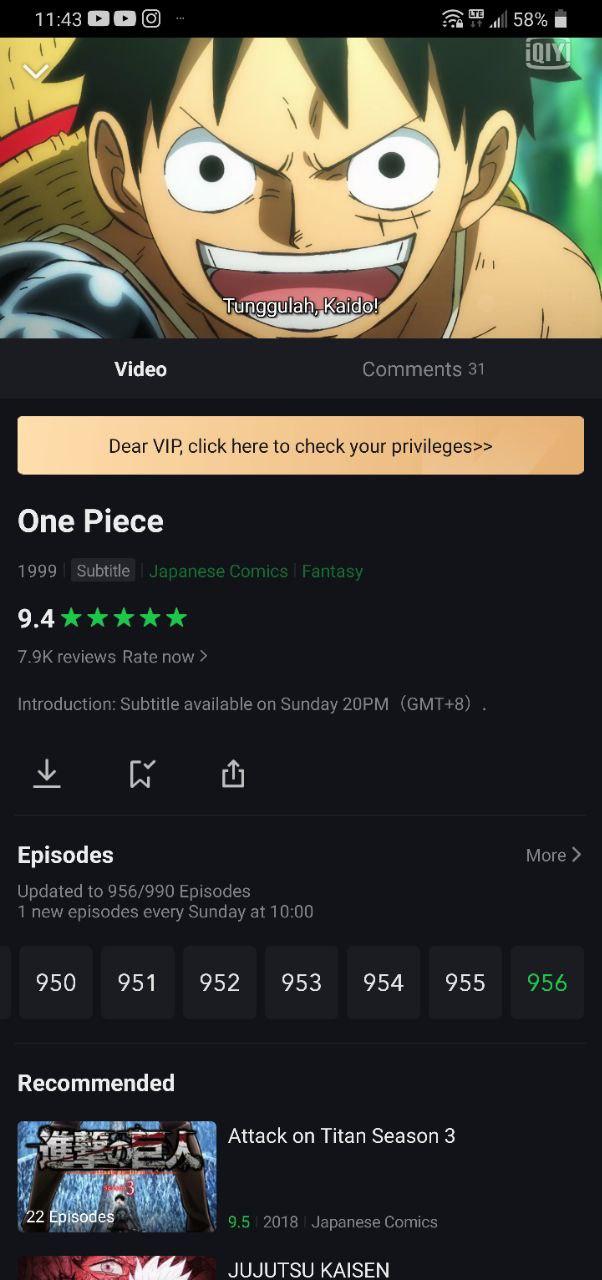 one piece anime iqiyi malaysia