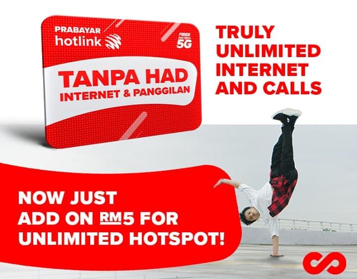 hotlink unlimited data hotspot rm45 6mbps
