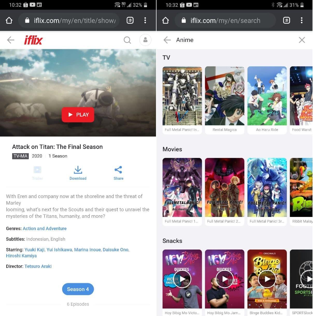 iflix tonton anime percuma malaysia