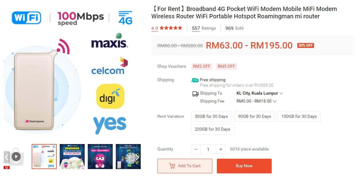 roaming man portable wifi internet rental malaysia