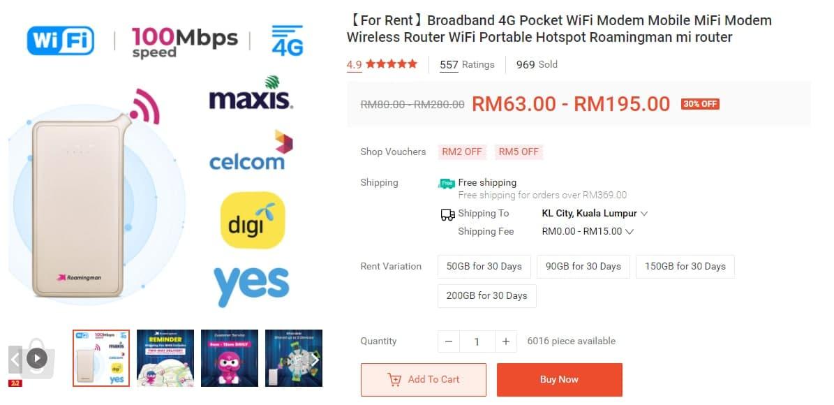 roamingman sewa internet data broadband malaysia