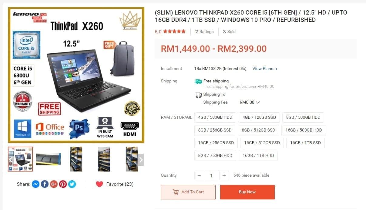 thinkpad x260 review malaysia
