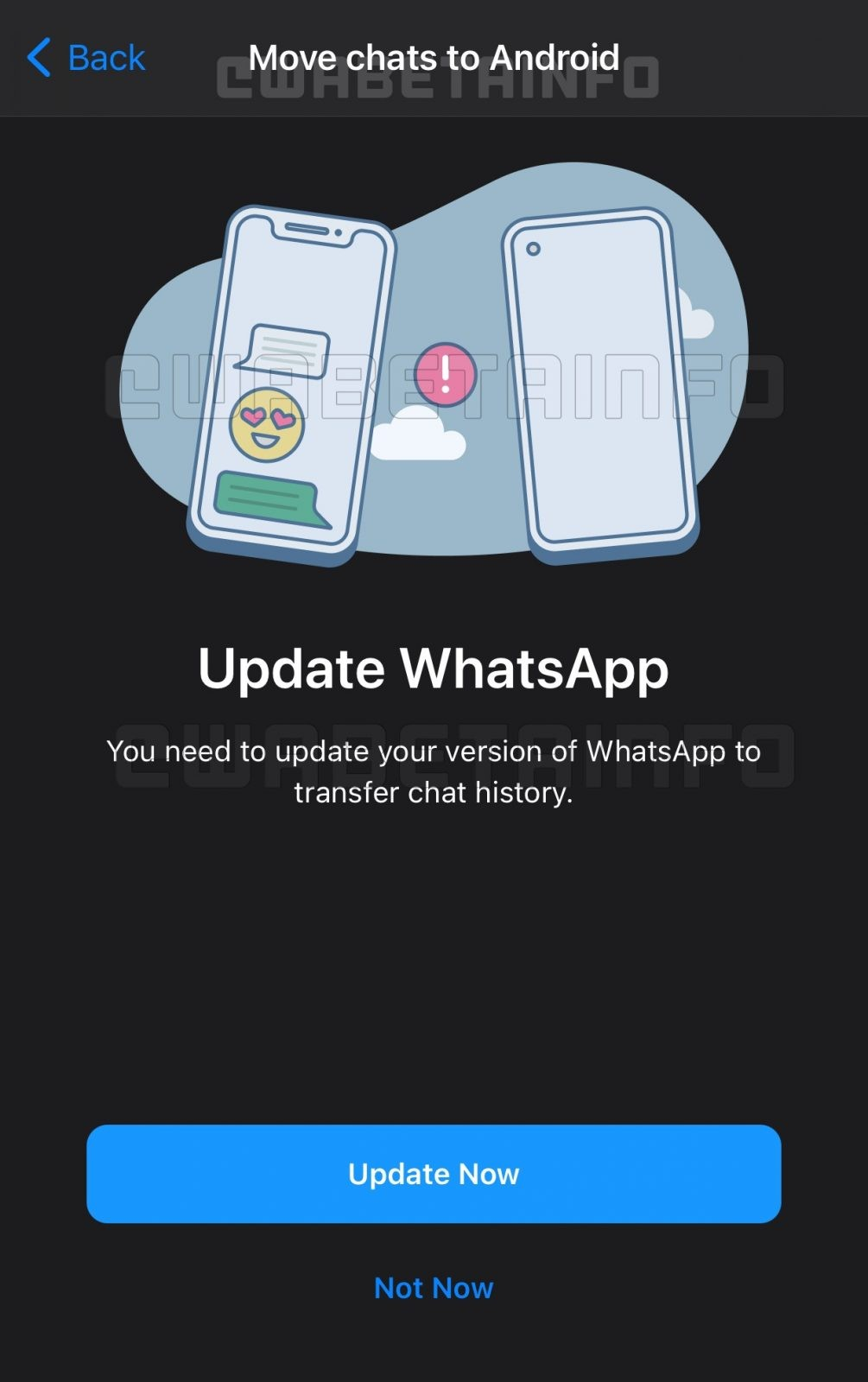 whatsapp chat transfer iphone android